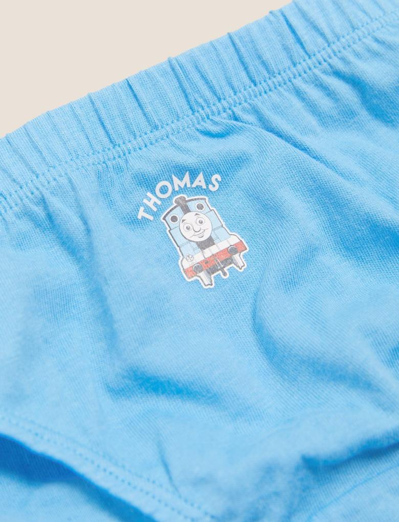 Erkek Çocuk Multi Renk Saf Pamuklu 5'li Thomas™ Külot
