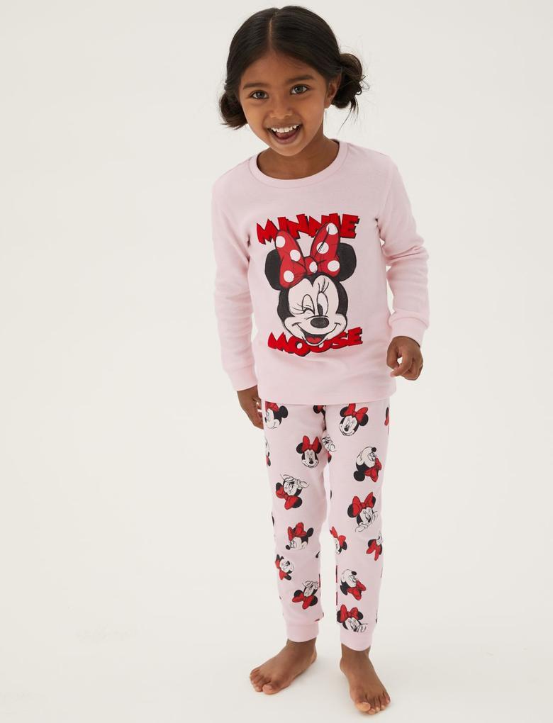 Çocuk Multi Renk Saf Pamuk Minnie™ Pijama Takımı