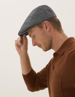 Erkek Gri Dokulu Şapka