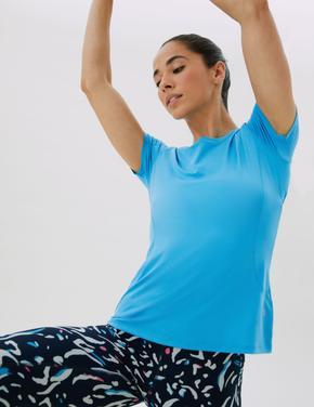 Kadın Mavi Performance Kısa Kollu T-Shirt
