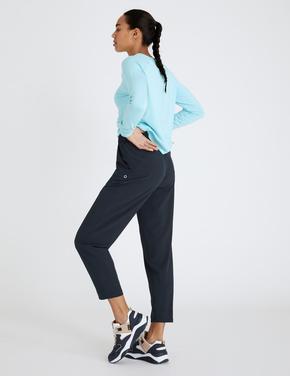 Kadın Lacivert Tapered Fit 7/8 Jogger Yürüyüş Pantolonu
