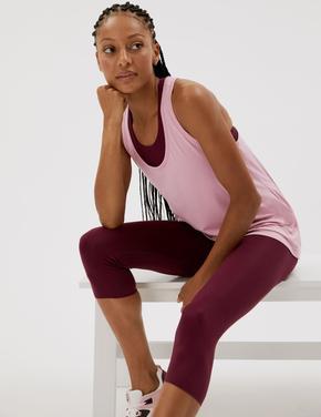 Kadın Pembe Relaxed Fit Yuvarlak Yaka Atlet
