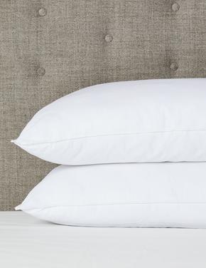 Ev Beyaz Saf Pamuklu 2'li Comfortably Cool Yastık Seti