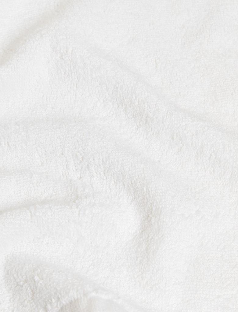 Ev Beyaz Saf Pamuklu 7'li Yüz Havlusu Seti
