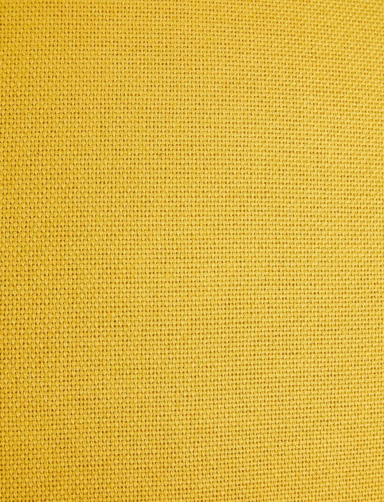 Ev Sarı Saf Pamuklu Dokuma Yastık