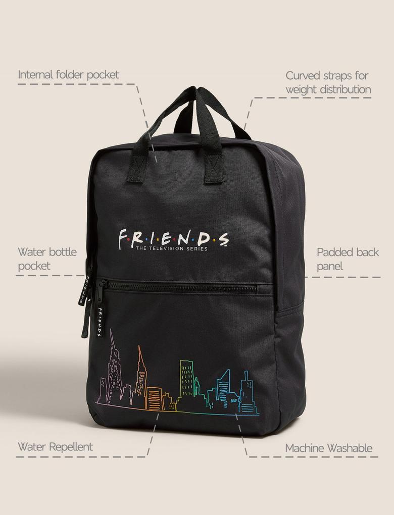 Siyah Friends™ Su Geçirmez Okul Çantası