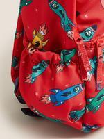 Kırmızı Roket Desenli Su Geçirmez Okul Çantası