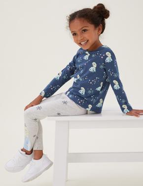 Kız Çocuk Multi Renk Saf Pamuklu 2'li Frozen™ T-Shirt (2-7 Yaş)