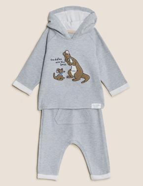 Bebek Gri 2'li Winnie the Pooh™ Alt-Üst Takım (0-3 Yaş)