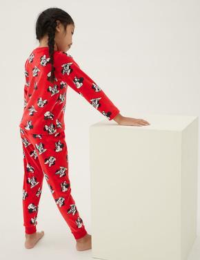 Çocuk Multi Renk Minnie™ Kadife Pijama Takımı (2-10 Yaş)