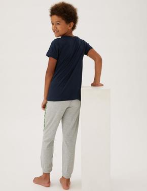 Çocuk Multi Renk Saf Pamuklu Minecraft™ Pijama Takımı (4-16 Yaş)