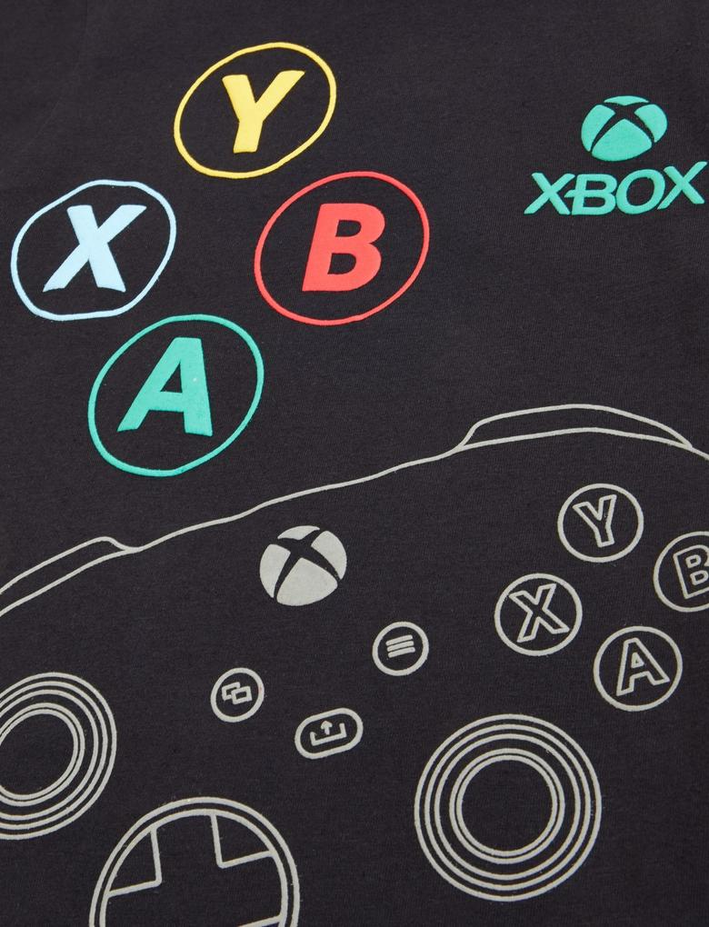 Çocuk Multi Renk Saf Pamuklu Xbox™ Pijama Takımı (6-16 Yaş)