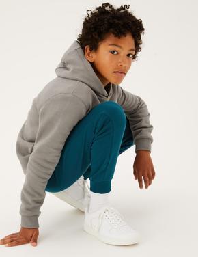 Erkek Çocuk Yeşil Pamuklu Eşofman Altı (6-16 Yaş)