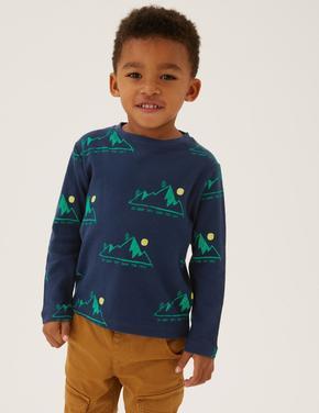 Erkek Çocuk Multi Renk 3'lü Uzun Kollu Waffle T-Shirt (2-7 Yaş)