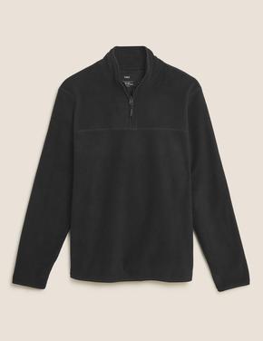 Erkek Siyah Balıkçı Yaka Polar Sweatshirt