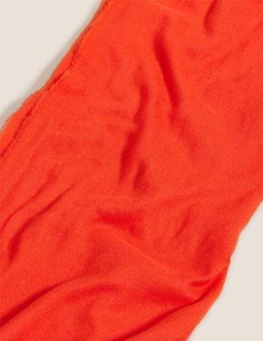 Kadın Turuncu Oversize Basic Şal