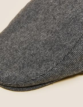 Erkek Gri Thermowarmth™ Yünlü Dokulu Şapka
