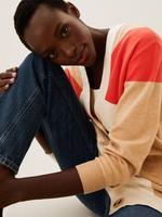 Kadın Turuncu Yumuşak Dokulu Renkli V Yaka Hırka