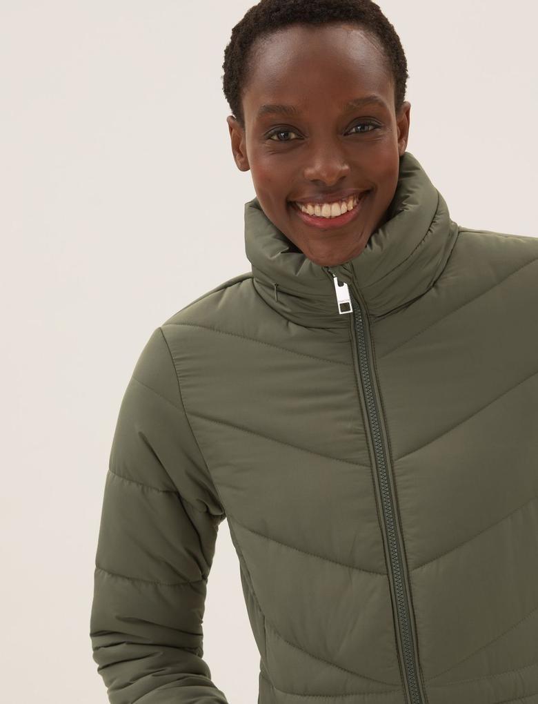 Kadın Yeşil Thermowarmth™ Puffer Şişme Mont