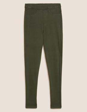 Kadın Yeşil Yüksek Bel Jegging Pantolon