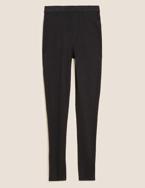 Kadın Siyah Yüksek Bel Jegging Pantolon