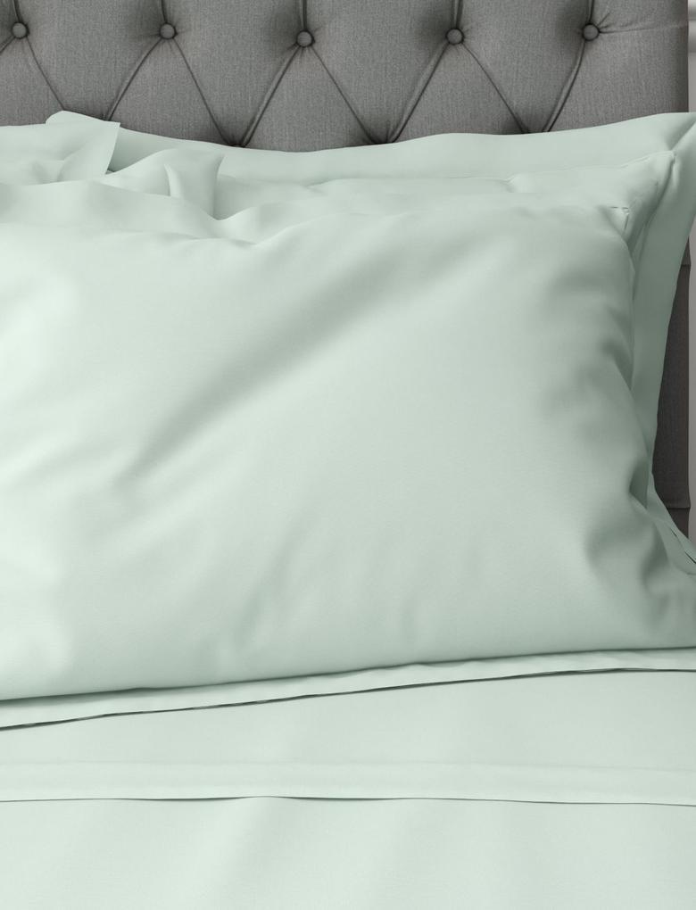 Ev Mavi Saf Egyptian Cotton (Mısır Pamuğu) Oxford Yastık Kılıfı (StayNEW™ Teknolojisi ile)