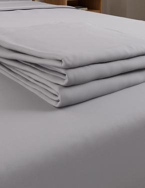 Ev Gri Ütü Gerektirmeyen Saf Egyptian Cotton (Mısır Pamuğu) Çarşaf