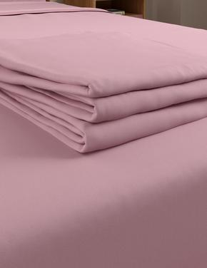 Ev Pembe Ütü Gerektirmeyen Saf Egyptian Cotton (Mısır Pamuğu) Çarşaf