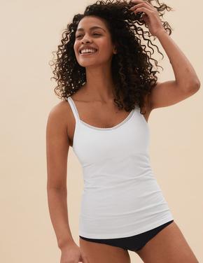 Kadın Beyaz Secret Support™ Dantel Detaylı Atlet