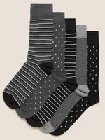 Erkek Gri 5'li Cool&Fresh™ Çorap Seti