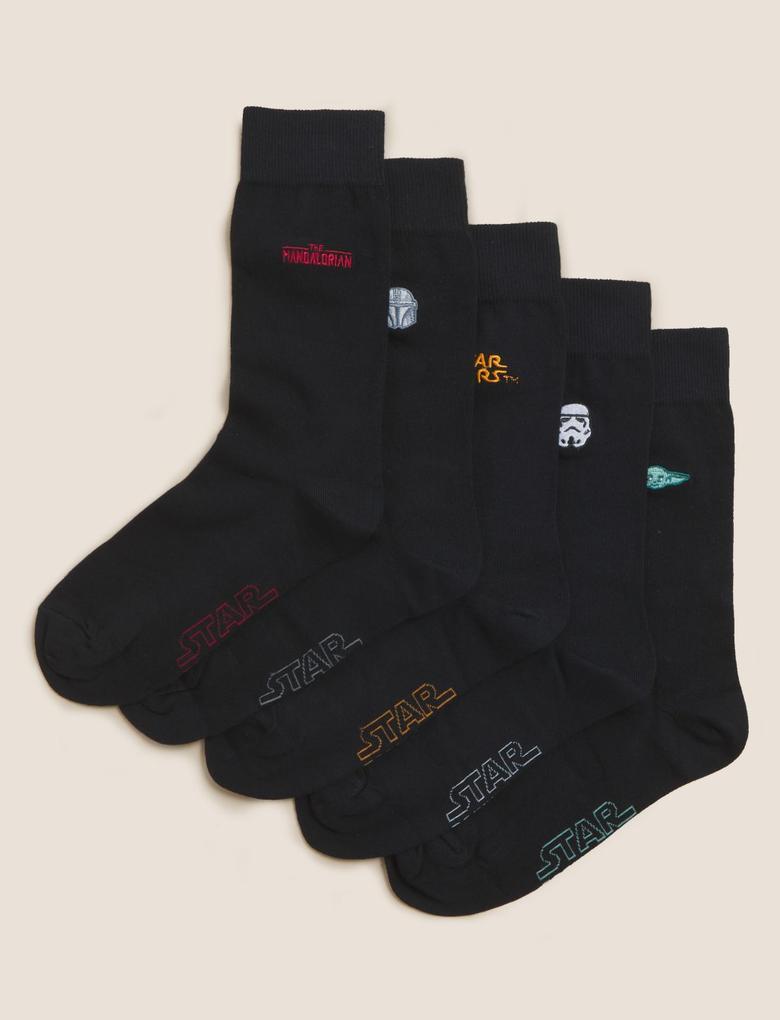 Erkek Siyah 5'li Star Wars™ Çorap Seti
