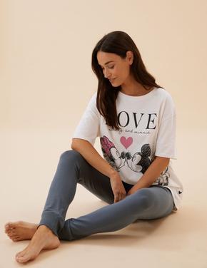 Kadın Bej Mickey Mouse™ Pijama Takımı