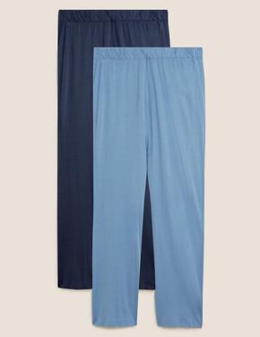 Kadın Mavi 2'li Modal Pijama Altı Seti