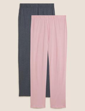 Kadın Pembe 2'li Modal Pijama Altı Seti