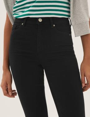 Kadın Siyah Bootcut Streç Jean Pantolon