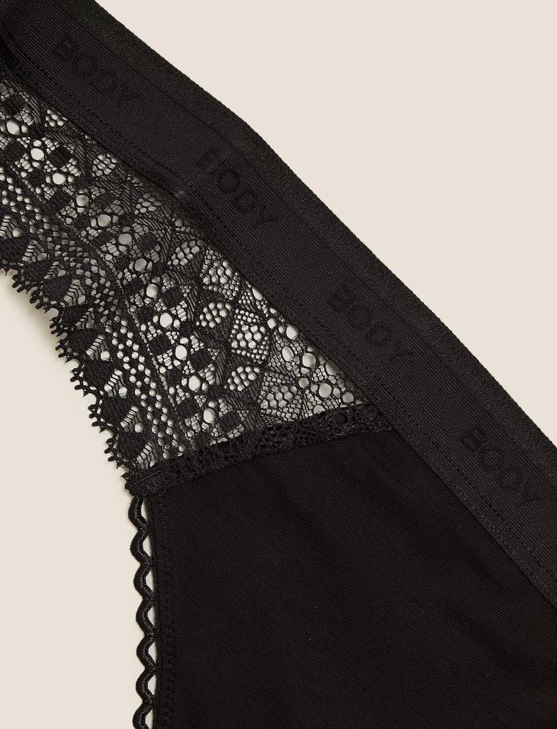 Kadın Siyah Cool Comfort™ Brazilian Külot