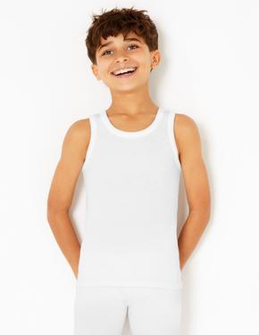 Çocuk Beyaz 2'li Termal Atlet (1-16 Yaş)