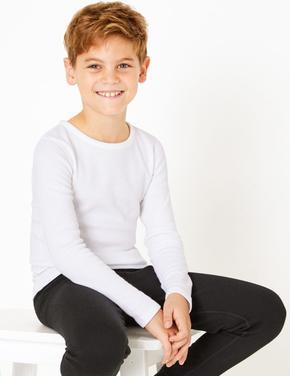 Çocuk Beyaz 2'li Uzun Kollu Termal Atlet (1-16 Yaş)
