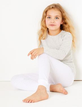 Çocuk Beyaz Fitilli Termal İçlik (1-16 yaş)