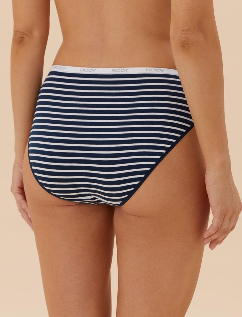 Kadın Lacivert 5'li Cotton Lycra® High Leg Külot Seti