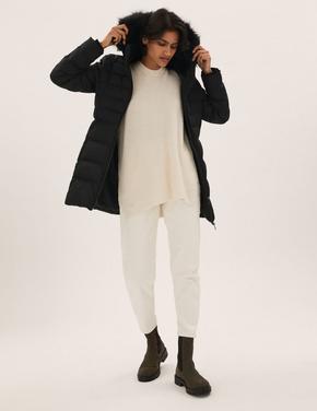 Kadın Siyah Thermowarmth™ Kapüşonlu Puffer Şişme Mont