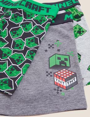 Çocuk Multi Renk 3'lü Minecraft™ Boxer (4-16 Yaş)
