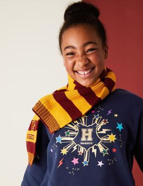 Kız Çocuk Lacivert Harry Potter™ İşleme Detaylı Sweatshirt (2-16 Yaş)
