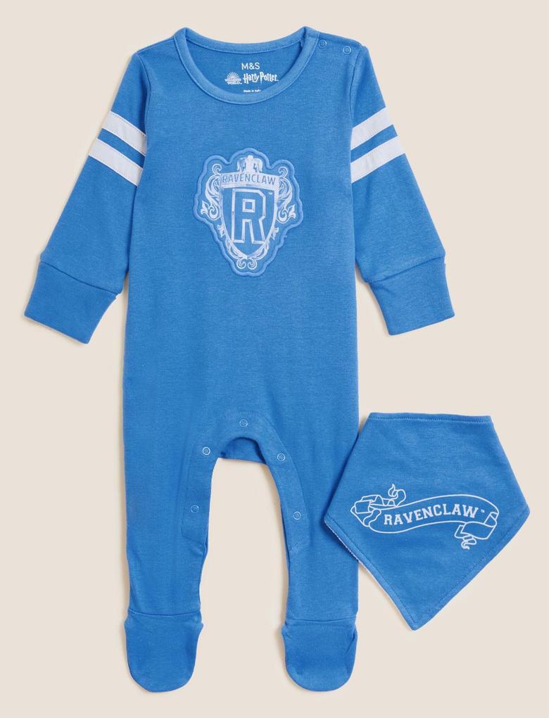 Bebek Mavi Saf Pamuklu Harry Potter™ 2'li Uyku Tulumu (0-3 Yaş)