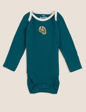 Bebek Krem Saf Pamuklu 3'lü Harry Potter™ Bodysuit (0-3 Yaş)