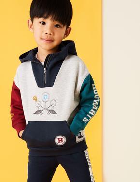 Erkek Çocuk Multi Renk Harry Potter™ Yarım Fermuarlı Kapüşonlu Sweatshirt (2-16 Yaş)