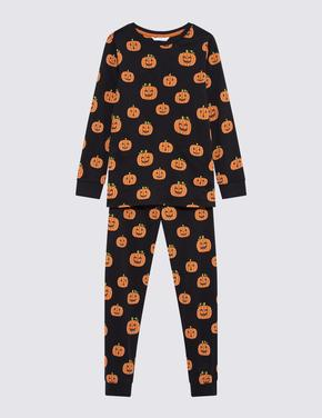 Çocuk Multi Renk Cadılar Bayramı Temalı Pijama Takımı