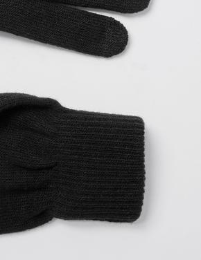 Erkek Siyah Thermowarmth™ Örme Eldiven