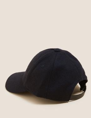 Erkek Lacivert Yünlü Şapka