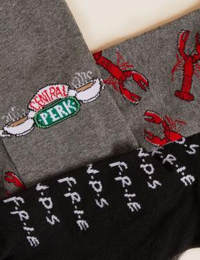 Erkek Gri 5'li Friends™ Çorap Seti